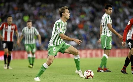 Canales, en un lance del Real Betis-Athletic Club