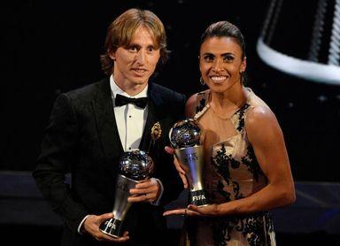 Modric reina por encima de un ausente Cristiano en los The Best