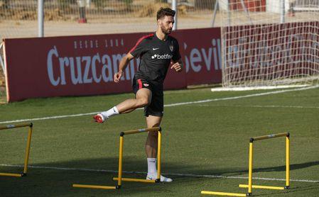 Sergi Gómez, en una sesión de entrenamientos.