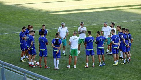 La plantilla del Betis, en un entrenamiento.