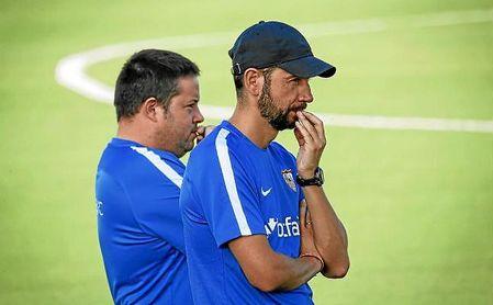 Pablo Machín y sus pupilos comenzarán a preparar la visita al Barcelona el próximo lunes por la tarde.