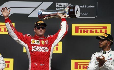 Raikkonen gana en Austin y hace esperar a Hamilton para sentenciar su quinto título en la F1