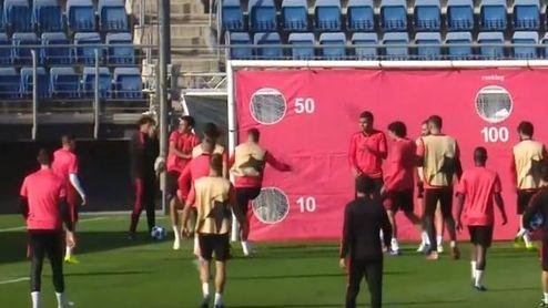 Sergio Ramos enfurece con su compañero en el entrenamiento