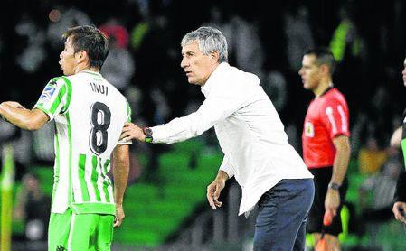 Quique Setién no dio con la tecla para superar al Valladolid.