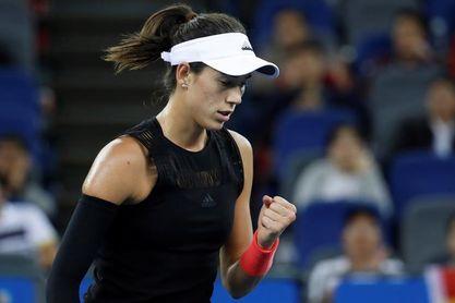 Garbiñe Muguruza avanza a las semifinales del WTA Elite Trophy en China