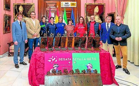 El delegado de Deportes del Ayuntamiento de Sevilla, David Guevara, presidió la presentación junto al delegado de Turismo y Deporte de la Junta de Andalucía, José Manuel Girela.