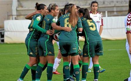 El Real Betis Féminas celebra un gol ante el Fundación Albacete.