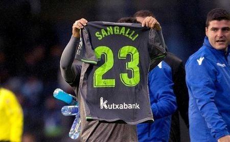 """La Real Sociedad anuncia que Sangalli """"ya está más cerca de reaparecer"""""""