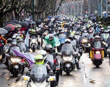 Los ´pingüinos´ moteros comienzan a anidar en Valladolid