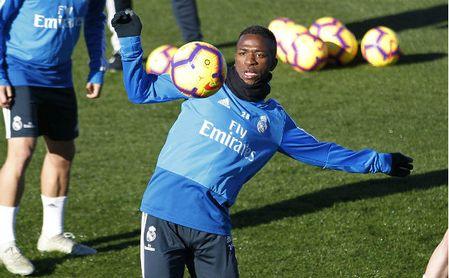 Entrenamiento del Real Madrid. En la imagen, Vinicius.