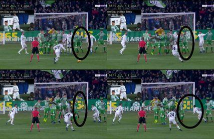 Boudebouz 'desapareció' de la barrera en el gol de Ceballos