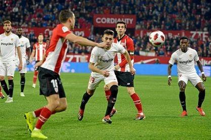 Munir, en el partido ante el Athletic.