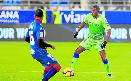 Carvalho, en el partido de Liga ante el Huesca.