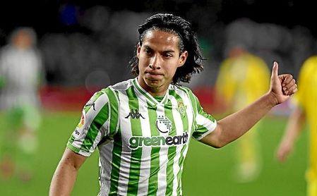 Diego Lainez, en el partido de Copa ante el Espanyol.