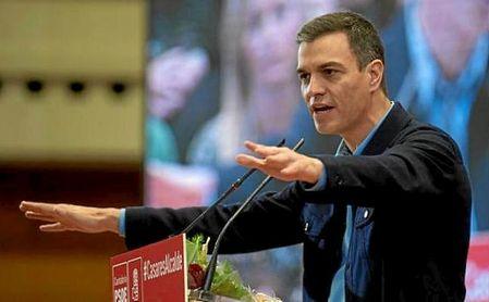 Pedro Sánchez el pasado domingo en una comparecencia en Santander