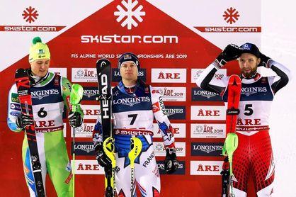 Pinturault logra en la combinada de Aare su primer oro individual