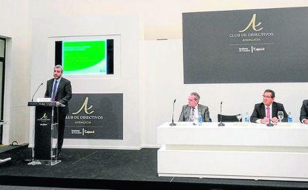 El presidente de AENA, Maurici Lucena Betriu, en un desayuno-coloquio celebrado ayer.