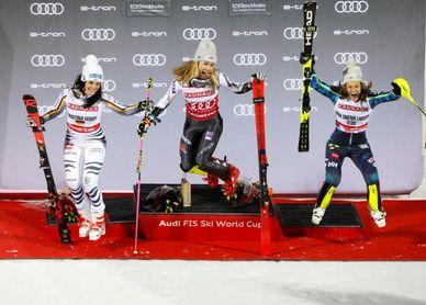 Mikaela Shiffrin y Ramon Zenhäusern ganaron los paralelos de Estocolmo