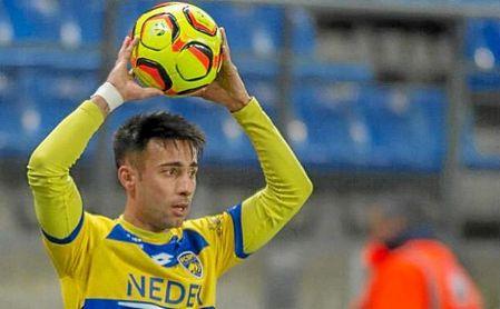 Rafa Navarro, en un partido del FC Sochaux-Montbéliard.