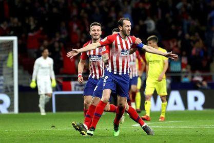 2-0. El VAR y Godín sostienen la fe del Atlético