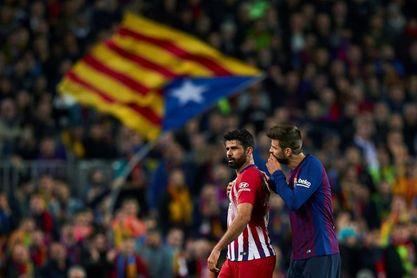 Empate sin goles en un primer tiempo marcado por la expulsión de Diego Costa