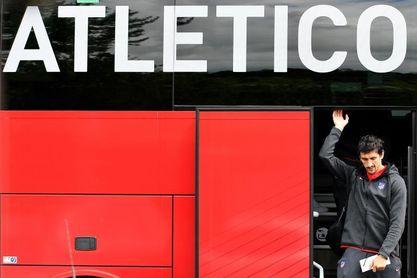 Savic no acabó de entrenar por molestias; Morata, Costa y Lemar en gimnasio