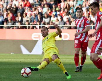 0-1. El Villarreal vence en Girona y se acerca a la salvación