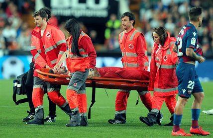 Piccini, sometido a pruebas en el hospital tras un fuerte golpe en un costado