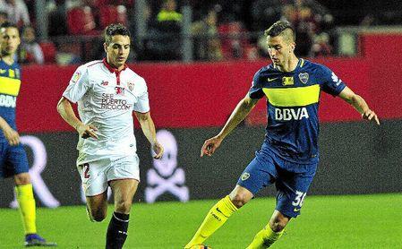 Imagen del Sevilla-Boca disputado en el Trofeo Antonio Puerta.