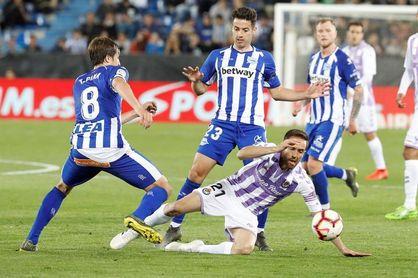 2-2. La perseverancia del Valladolid arranca un empate ante el Alavés