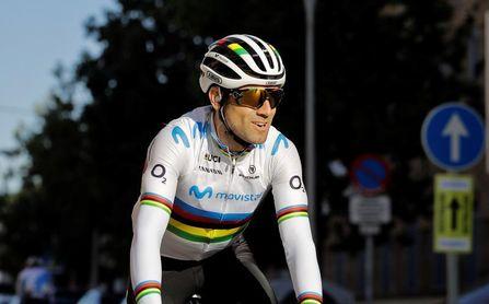 Alejando Valverde se perderá el Giro por molestias tras su caída de Lieja