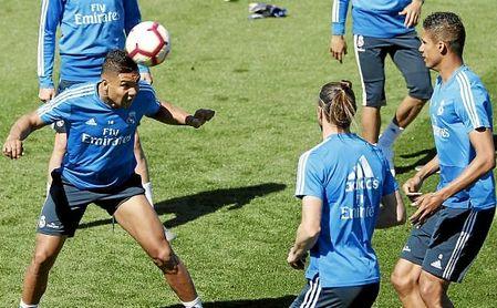 Entrenamiento del Real Madrid la pasada semana.