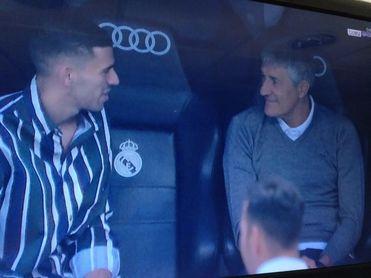 Larga charla de Ceballos con Setién antes del Madrid-Betis