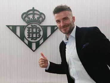 Beckham disfrutó en el Villamarín en la final de Copa