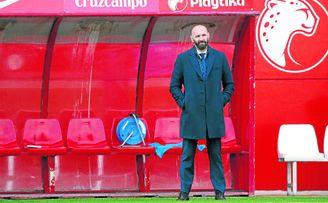 Monchi, presente en un entrenamiento del Sevilla.