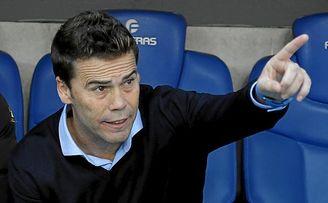 Rubi, durante la temporada pasada en el banquillo del Espanyol.