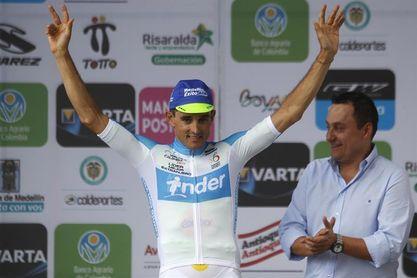 Sevilla gana la contrarreloj y se convierte en el primer líder de la Vuelta a Colombia