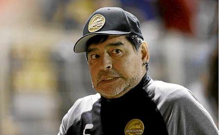 Maradona, en su Instagram, escribió apenado por la pérdida de 'La Perla'