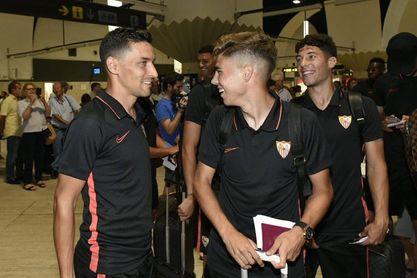 Pozo es uno más en la expedición que lleva al Sevilla FC a Estados Unidos.