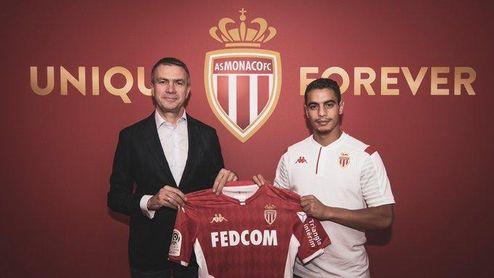 Ben Yedder ya posa como jugador del AS Monaco.