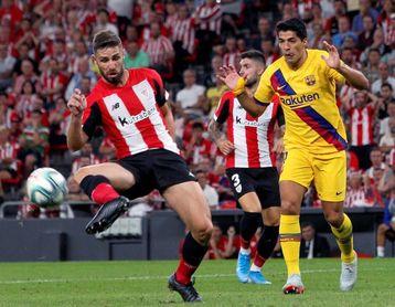 1-0. Un golazo de Aduriz da la victoria al Athletic en el partido inaugural