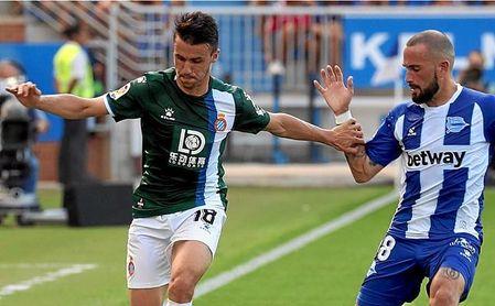 Corchia y Aleix, ambos cedidos por el Sevilla FC, se han enfrentado este domingo.