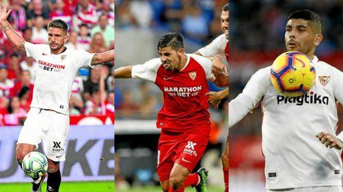 Tres titulares del Sevilla con el futuro en el aire