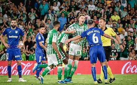 Loren celebra el gol del partido frente al Leganés.