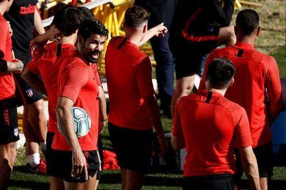 Diego Costa y el tridente, a punto para Valladolid
