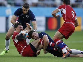 61-0. Escocia arrolla a Rusia, que abandona Japón sin una sola victoria