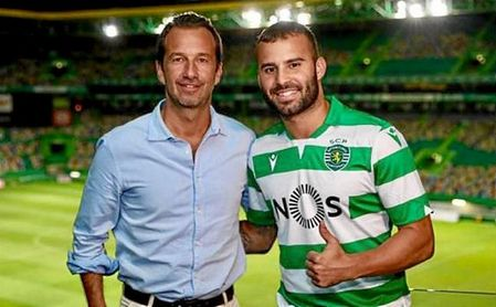 Jesé el día de su presentación con el Sporting.