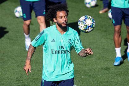 Marcelo completó la sesión con el grupo, buena nueva para Zidane
