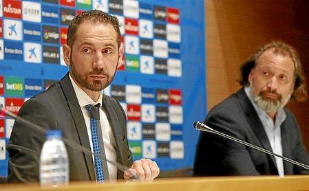 Machín, en su presentación con el Espanyol.