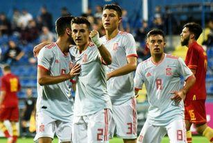 0-2. España, líder tras vencer a Montenegro en el debut de Ansu Fati